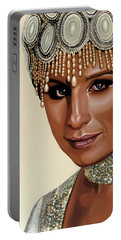 Barbra Streisand 2 Portable Battery Charger by Paul Meijering