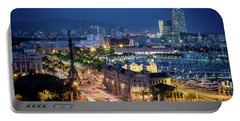Barcelona Night View Portable Battery Charger