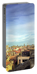 Portable Battery Charger featuring the photograph Barcelona Rooftops by Colleen Kammerer