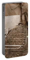 Portable Battery Charger featuring the photograph Bare Bones Miners Camp by Marie Neder