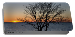 Portable Battery Charger featuring the photograph Bare Tree At Sunset by Kennerth and Birgitta Kullman