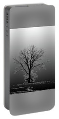 Bare Tree In Fog- Pe Filter Portable Battery Charger by Nancy Landry