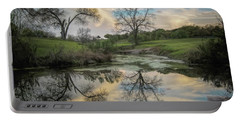 Bare Tree Reflections Portable Battery Charger