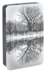 Portable Battery Charger featuring the photograph Bare Trees by Darren White
