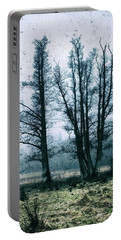 Bare Winter Trees Portable Battery Charger by Karen Stahlros