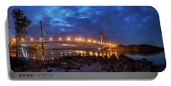 Portable Battery Charger featuring the photograph Barelang Bridge, Batam by Pradeep Raja Prints