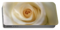Barely White Rose Portable Battery Charger