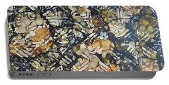 Portable Battery Charger featuring the painting Bark Batik Ink #22 by Sarajane Helm