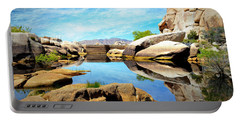 Portable Battery Charger featuring the photograph Barker Dam - Joshua Tree National Park by Glenn McCarthy Art and Photography