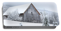 Barn After Snow Portable Battery Charger
