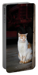 Barn Cat And Tractor Portable Battery Charger