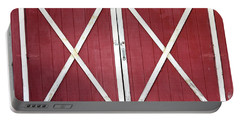 Portable Battery Charger featuring the photograph Red Barn Doors by Sheila Brown