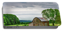 Portable Battery Charger featuring the photograph Barn In Bliss Township by Bill Gallagher