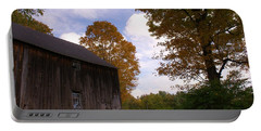 Barn In Fall Portable Battery Charger
