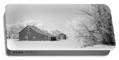 Barn In North Dakoya Winter Portable Battery Charger