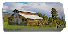 Barn In Rocky Mountains Portable Battery Charger