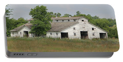 Portable Battery Charger featuring the photograph Barn In The Field 948 by Ericamaxine Price