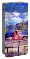 Barn On Ca Highway 154 Portable Battery Charger by Joseph Hollingsworth