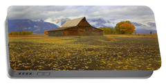 Barn On Mormon Row Wyoming Portable Battery Charger