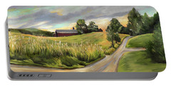 Barn On The Ridge In West Newbury Vermont Portable Battery Charger