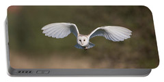 Barn Owl Approaching Portable Battery Charger