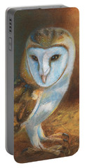 Barn Owl Blue Portable Battery Charger