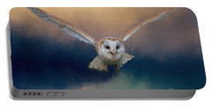 Barn Owl In Flight Portable Battery Charger