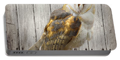 Barn Owl Portable Battery Charger by Kathy M Krause