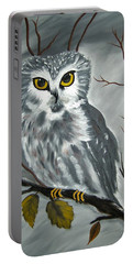 Barn Owl Ready For The Hunt Portable Battery Charger
