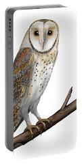 Barn Owl Screech Owl Tyto Alba - Effraie Des Clochers- Lechuza Comun- Tornuggla - Nationalpark Eifel Portable Battery Charger