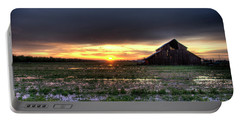 Barn Sunrise Portable Battery Charger by Jim And Emily Bush