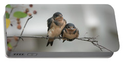 Barn Swallow Fledglings Portable Battery Charger