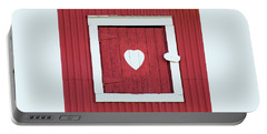 Barn Window With Heart Portable Battery Charger