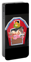Barn With Animals Portable Battery Charger by Brenda Bonfield