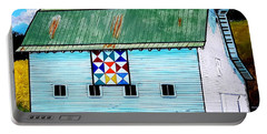 Barn With Quilt Portable Battery Charger by Jim Harris