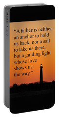 Barnegat Lighthouse With Father Quote Portable Battery Charger