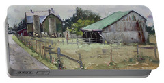 Barns And Old Shack In Norval Portable Battery Charger