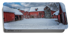 Barns In Winter II Portable Battery Charger
