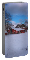 Barns In Winter Portable Battery Charger