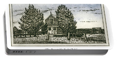 Portable Battery Charger featuring the mixed media Barnstable Yacht Club Greeting Card by Charles Harden