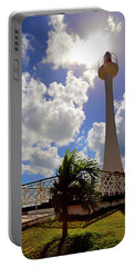 Portable Battery Charger featuring the photograph Baron Bliss Lighthouse - Fort George, Belize - Caribbean by Jason Politte