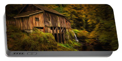 Baroque Cedar Grist Mill Portable Battery Charger