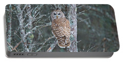 Barred Owl 1396 Portable Battery Charger by Michael Peychich