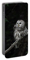 Portable Battery Charger featuring the photograph Barred Owl 2 by Glenn Gordon