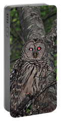 Portable Battery Charger featuring the photograph Barred Owl 3 by Glenn Gordon