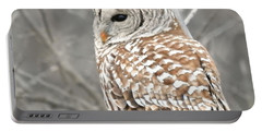 Barred Owl Close-up Portable Battery Charger