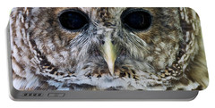 Barred Owl Closeup Portable Battery Charger