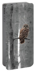 Barred Owl In Winter Woods #1 Portable Battery Charger