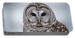Portable Battery Charger featuring the photograph Barred Owl by Paul Freidlund
