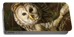 Barred Owl Peering Portable Battery Charger